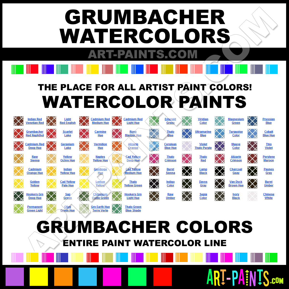 Grumbacher Oil Paint Color Chart