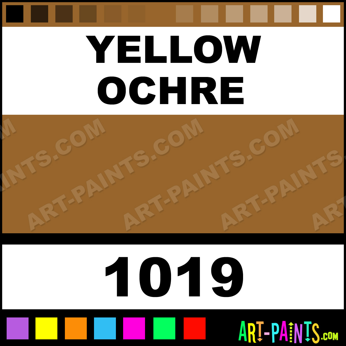 Yellow Ochre For Body Paint