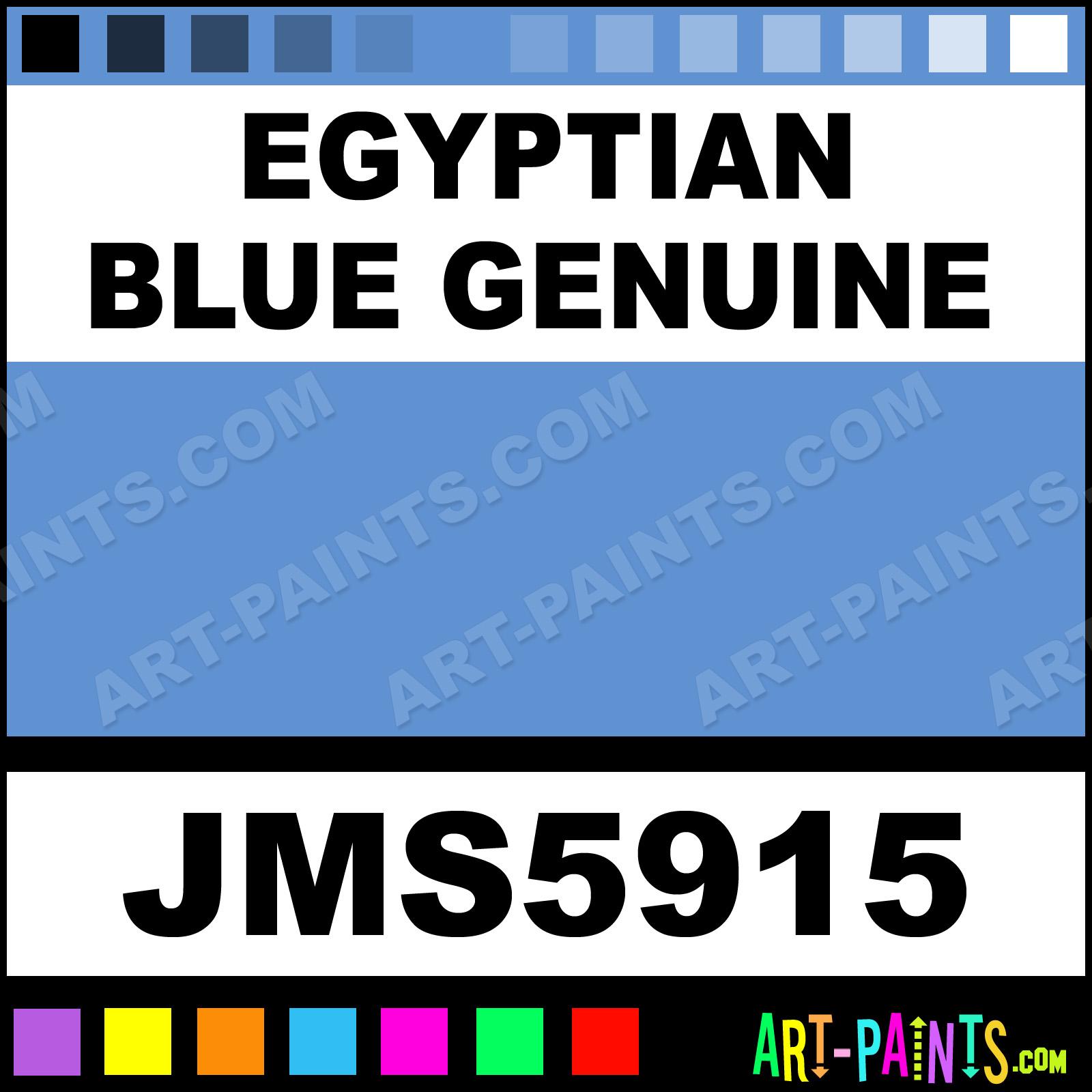 Joe Miller Paints Egyptian Blue Genuine Signature Watercolor