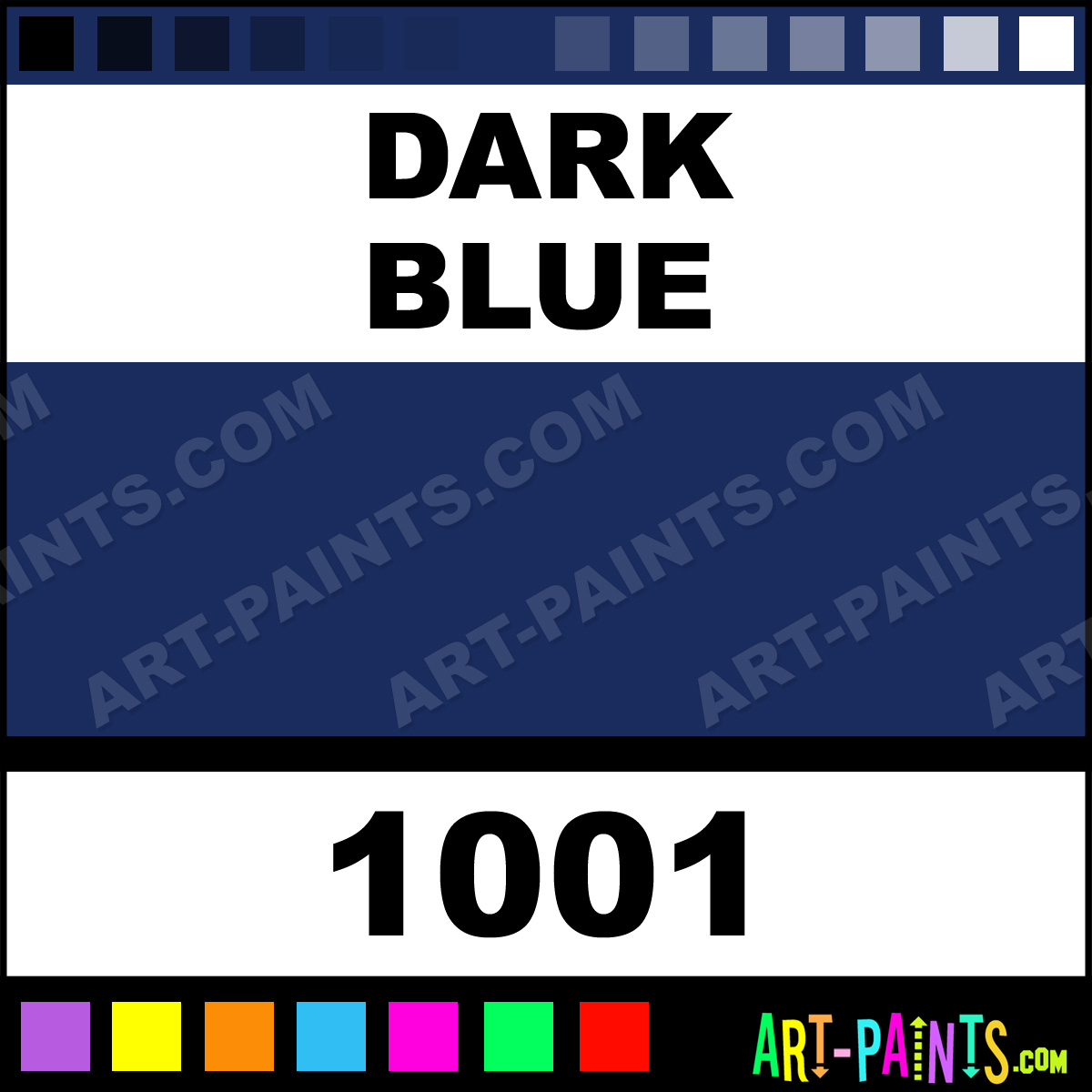 Dark Blue Artist Watercolor Paints 1001 Dark Blue Paint Dark