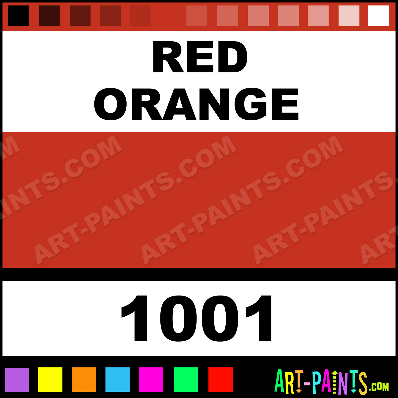 red orange artist watercolor paints - 1001 - red orange paint, red