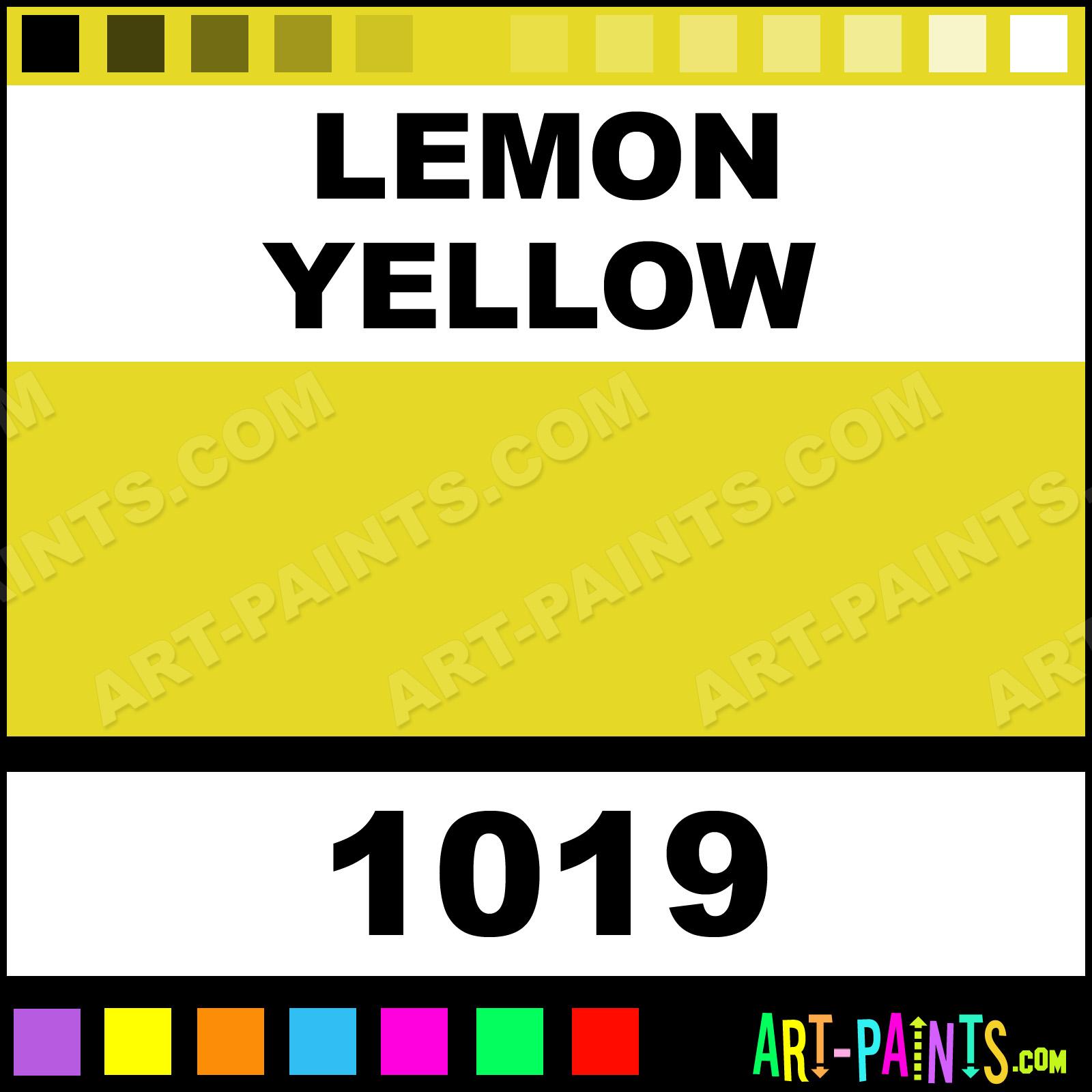 Lemon Yellow Artist Watercolor Paints 1019 Lemon
