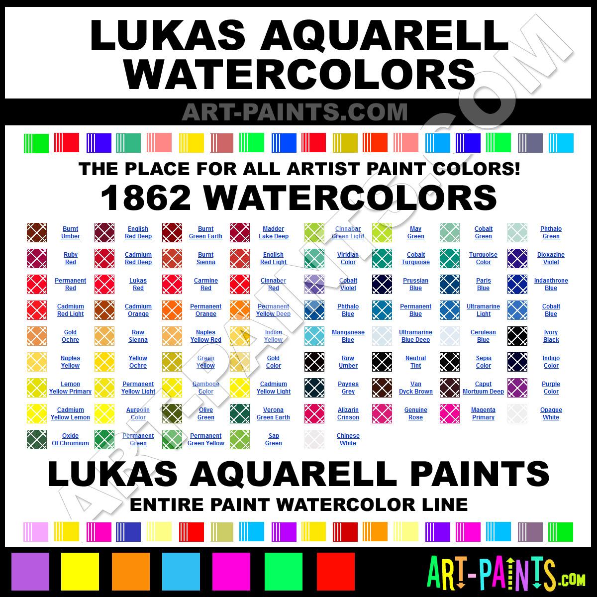 Lukas Oil Paint Color Chart