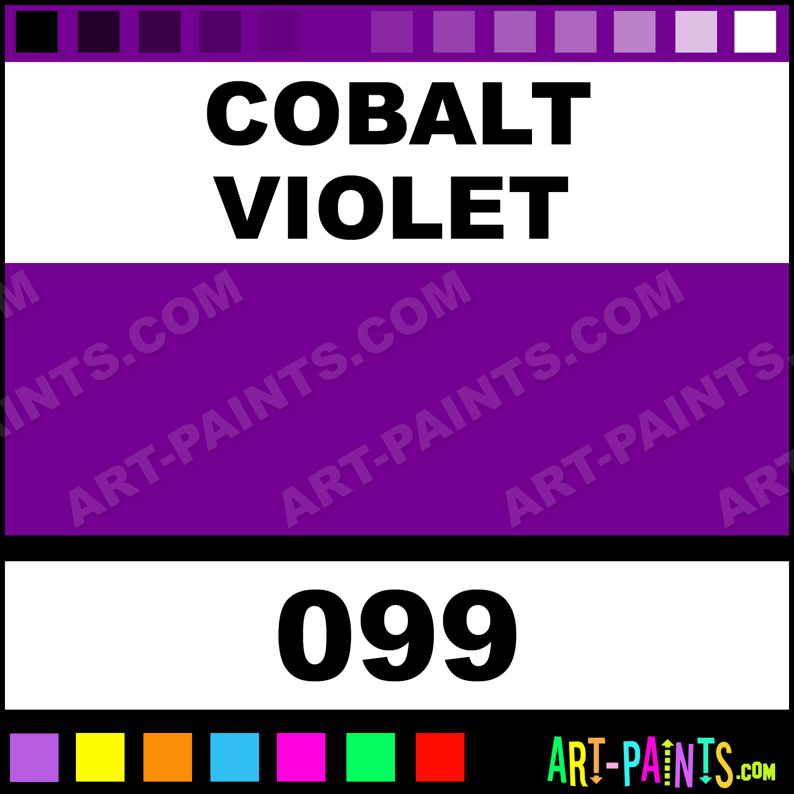 Cobalt Violet Artists Watercolor Paints 099 Cobalt