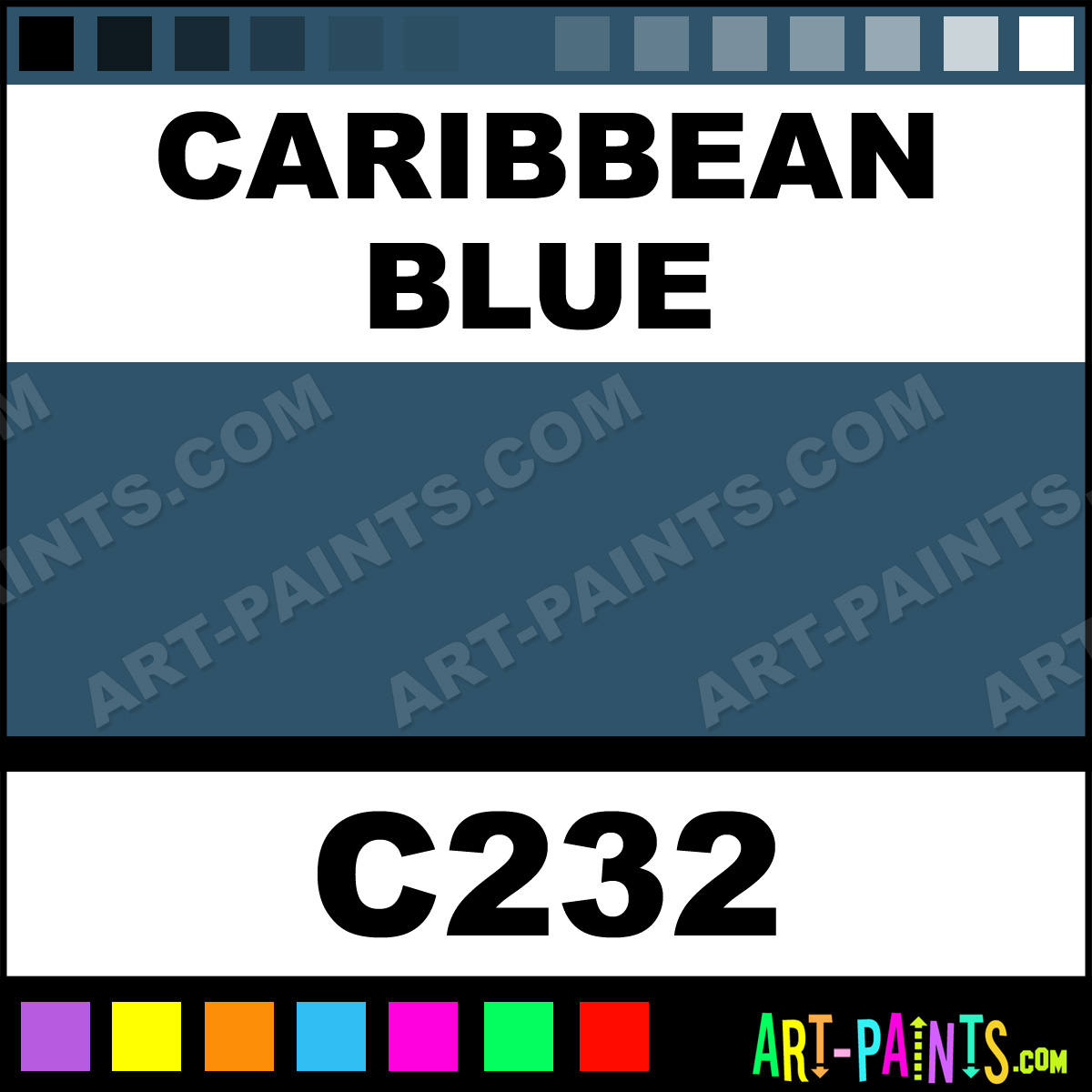Caribbean Blue Paint C232 By Old Holland