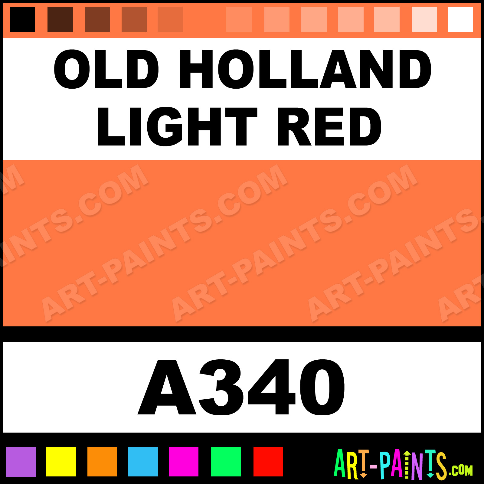 Old holland light red classic watercolor paints a340 Classic red paint color