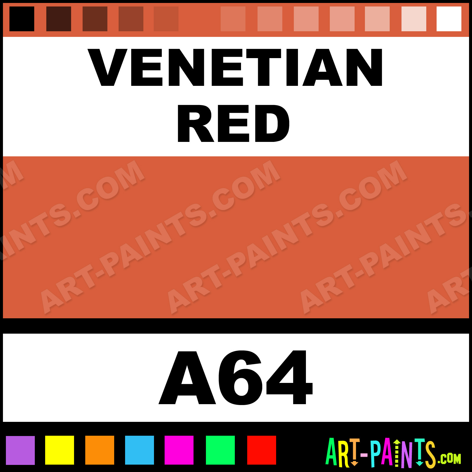 Venetian red classic watercolor paints a64 venetian Classic red paint color