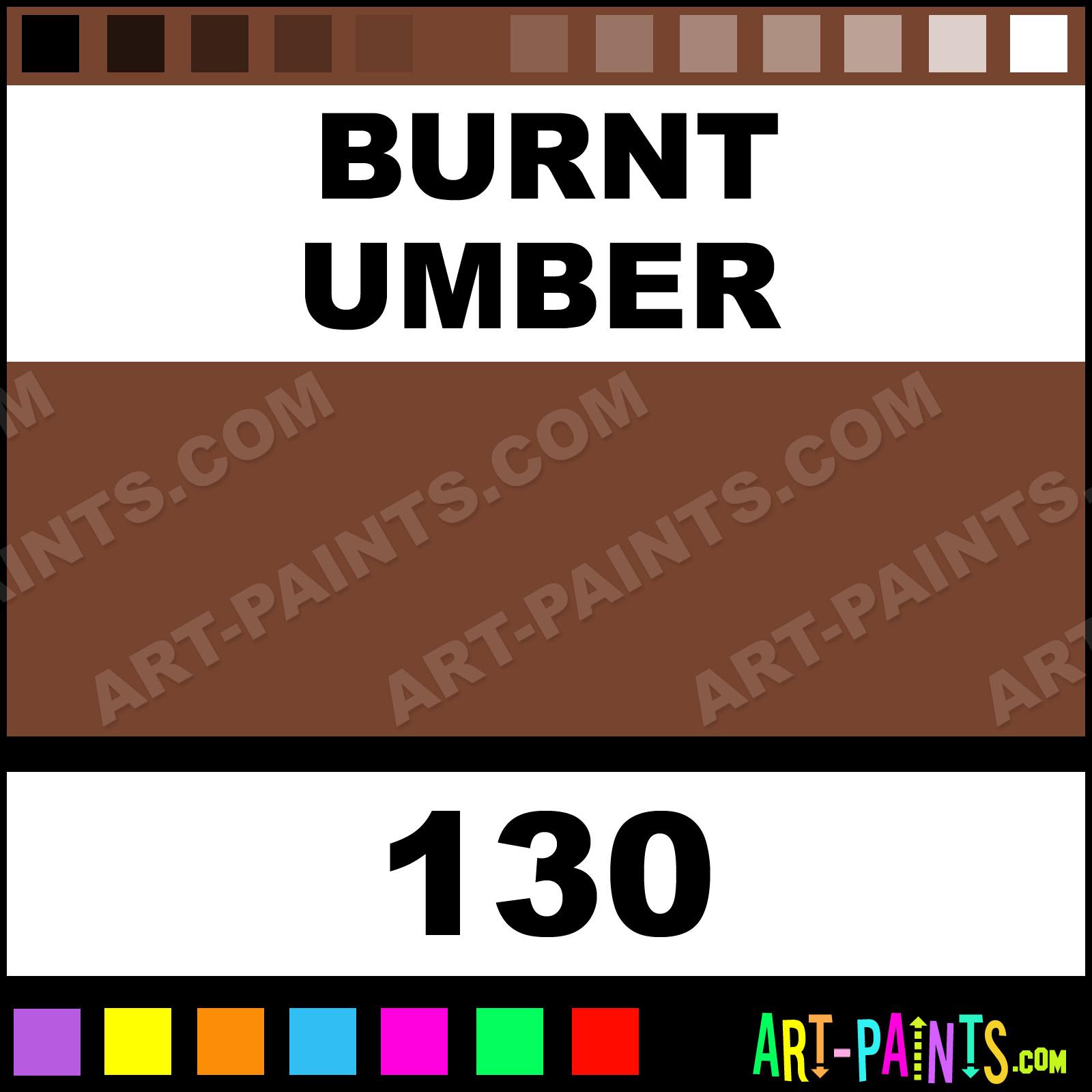 Burnt Umber Fragonard Watercolor Paints 130 Burnt Umber Paint