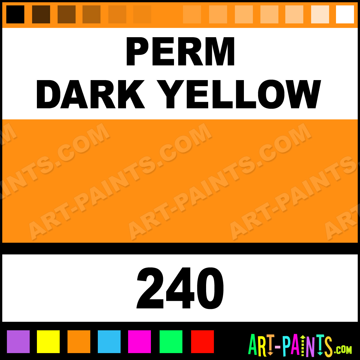 Perm Dark Yellow Fragonard Watercolor Paints 240 Perm