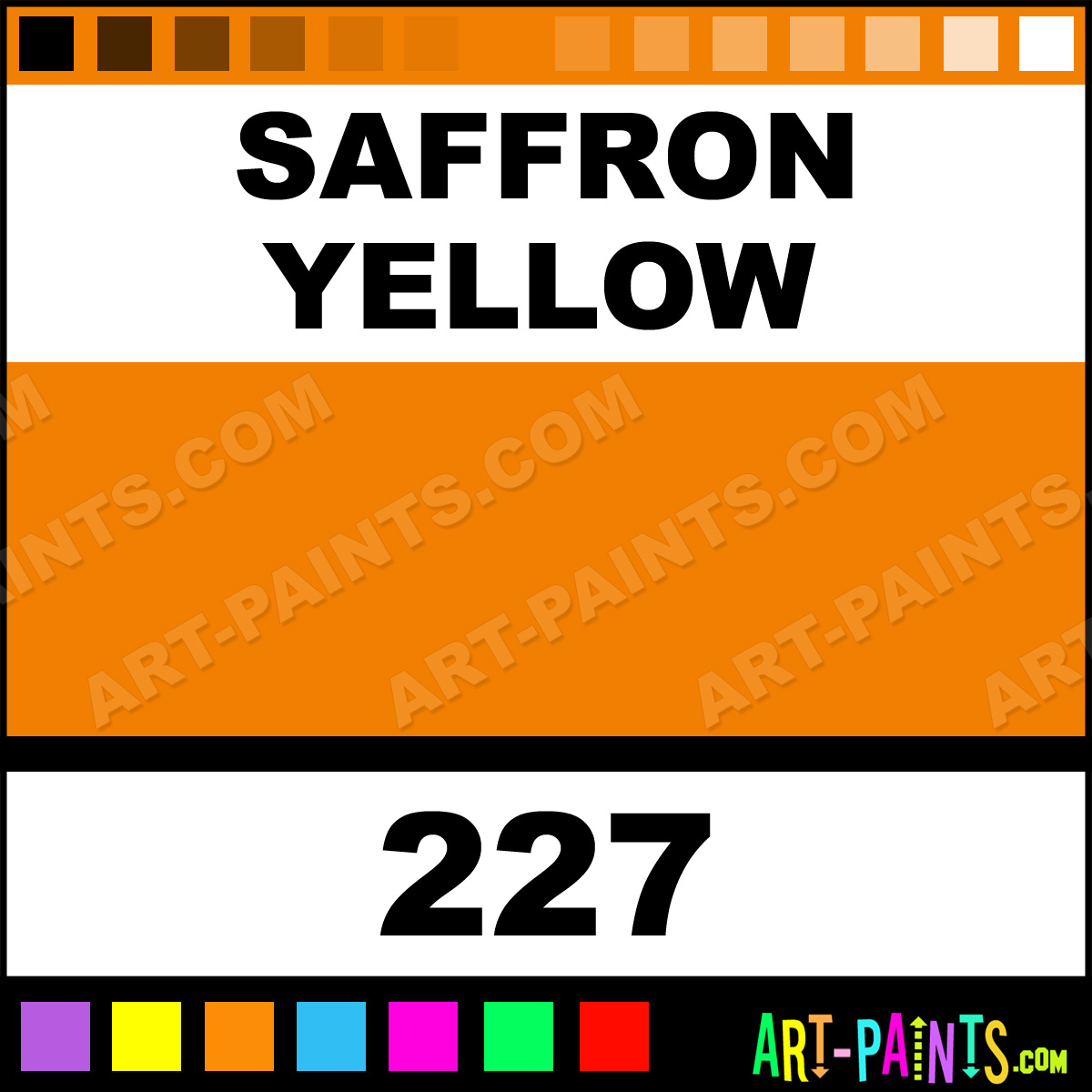 Saffron yellow fragonard watercolor paints 227 saffron for Saffron yellow paint color
