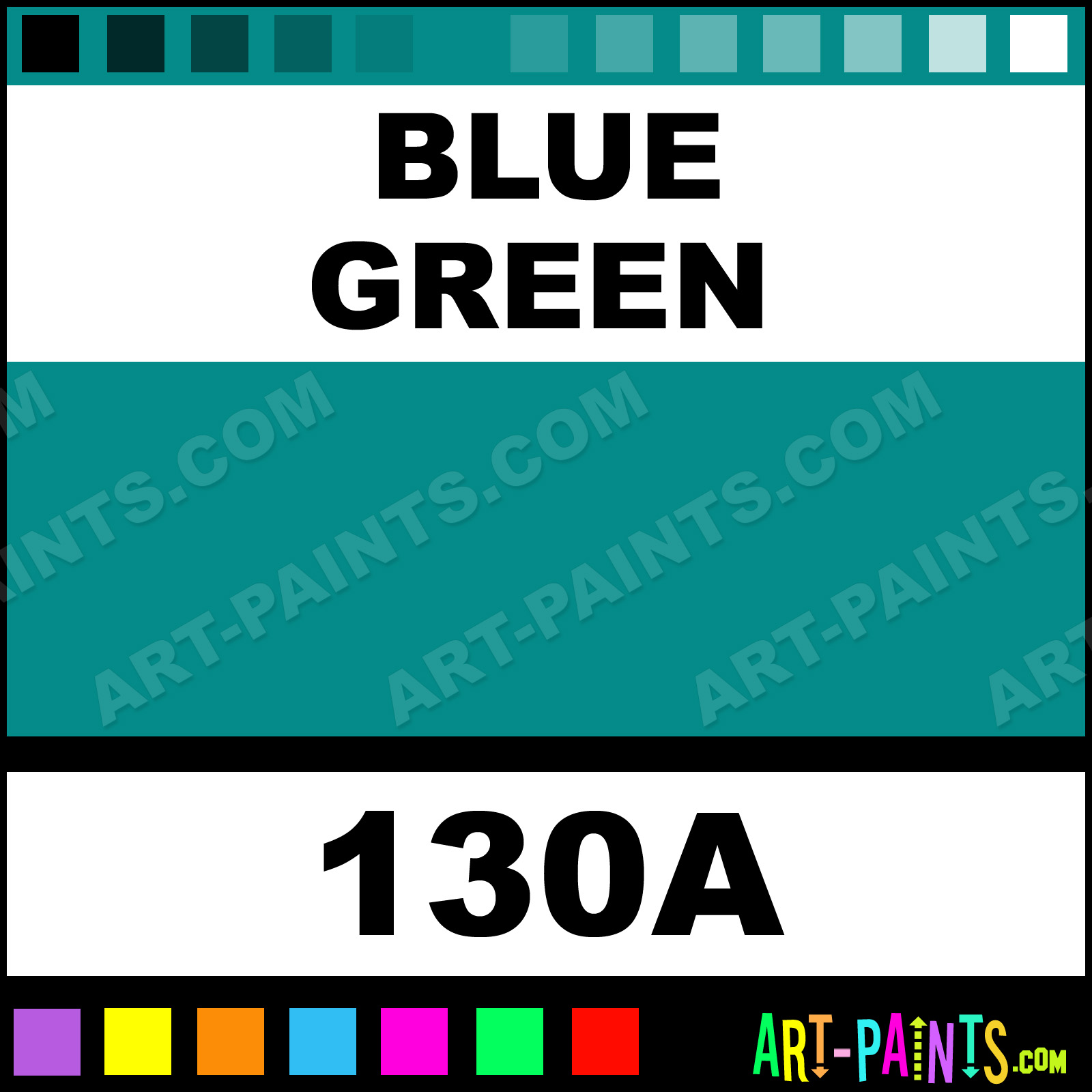 Bluish Green Color Blue Green