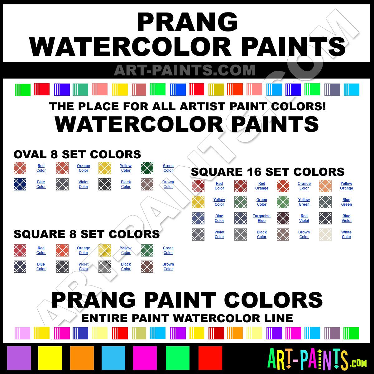 Paint Colors And Brands: Prang Watercolor Paint Brands