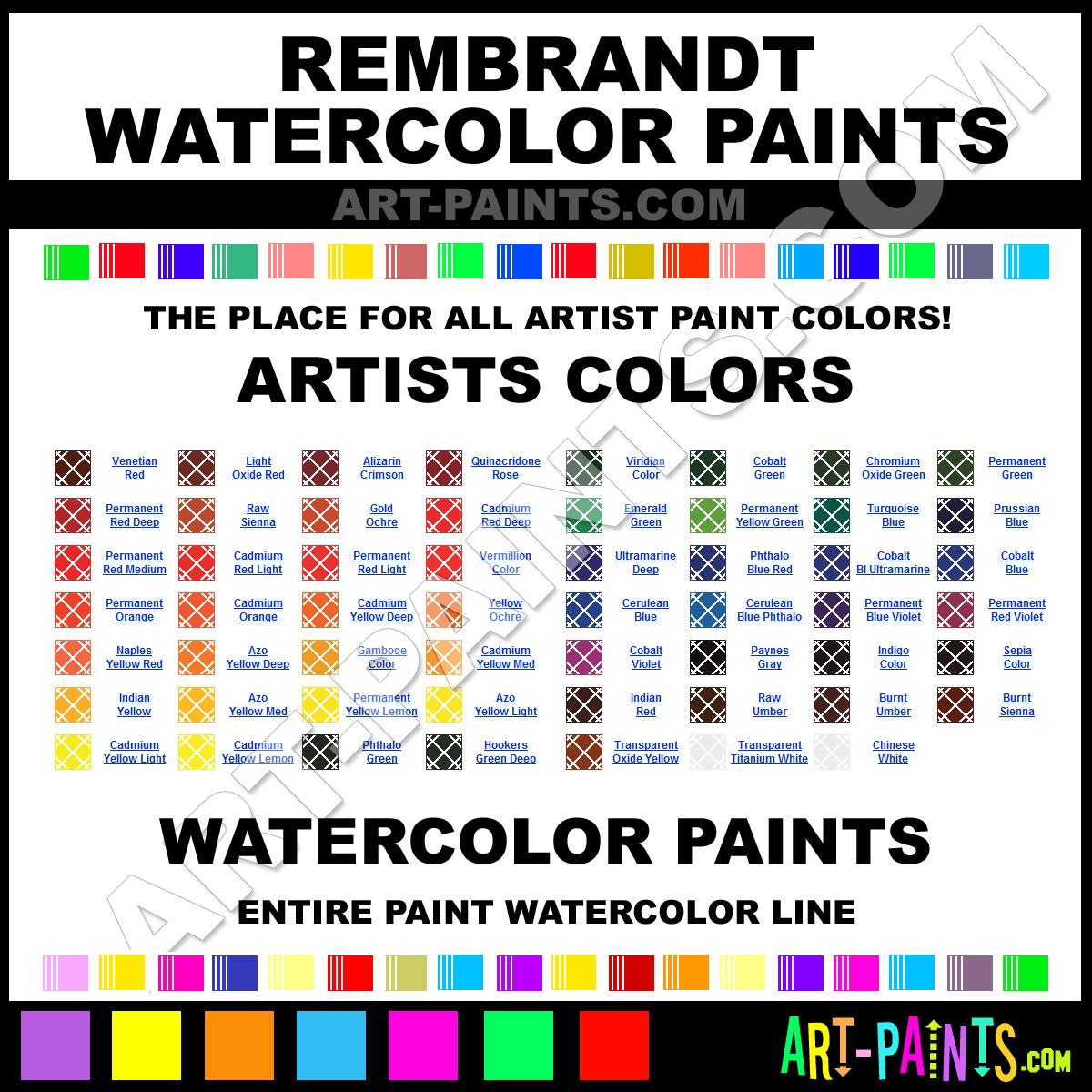 Rembrandt artists watercolor paint colors rembrandt artists paint rembrandt watercolors geenschuldenfo Images