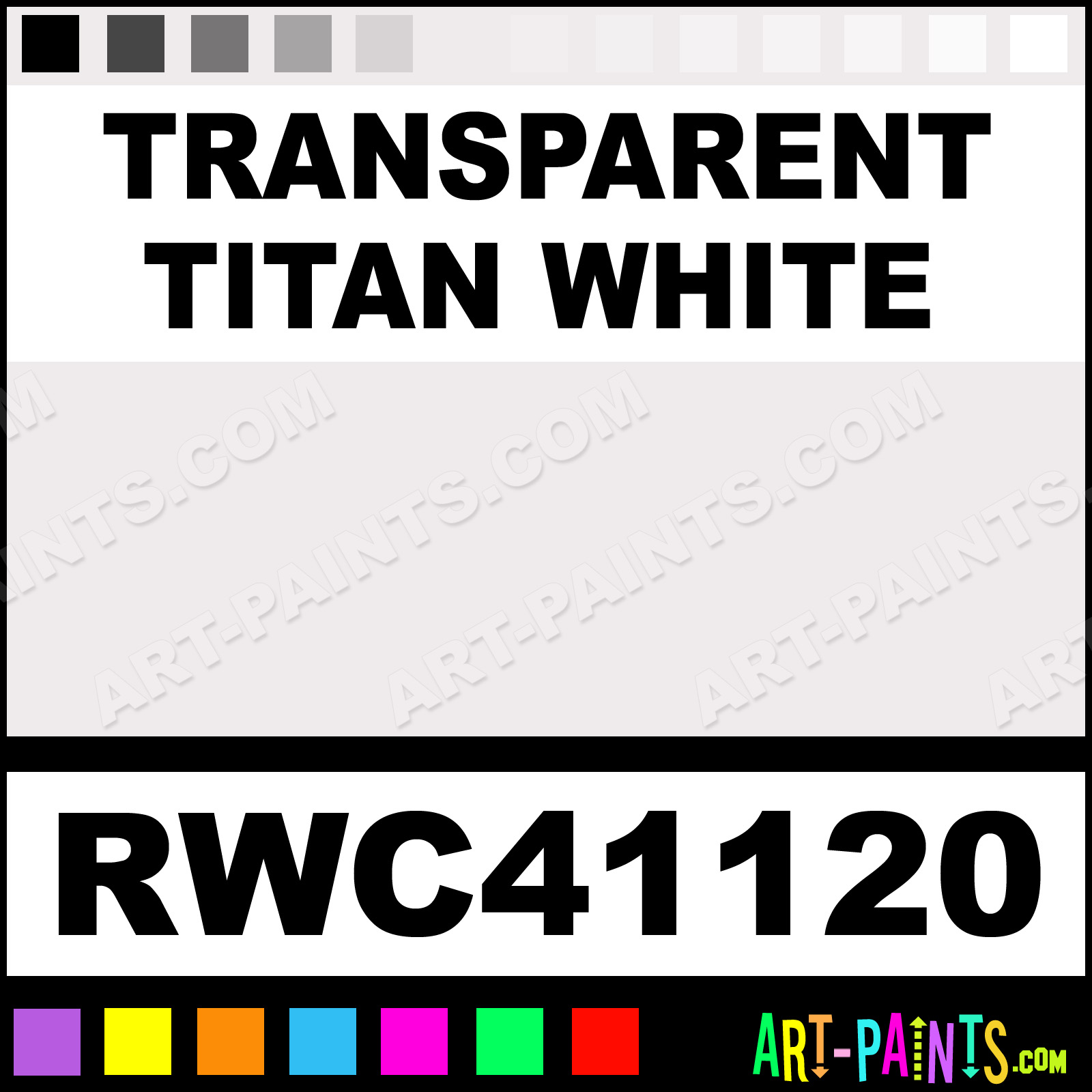 Transparent Titan White Artists Watercolor Paints - RWC41120