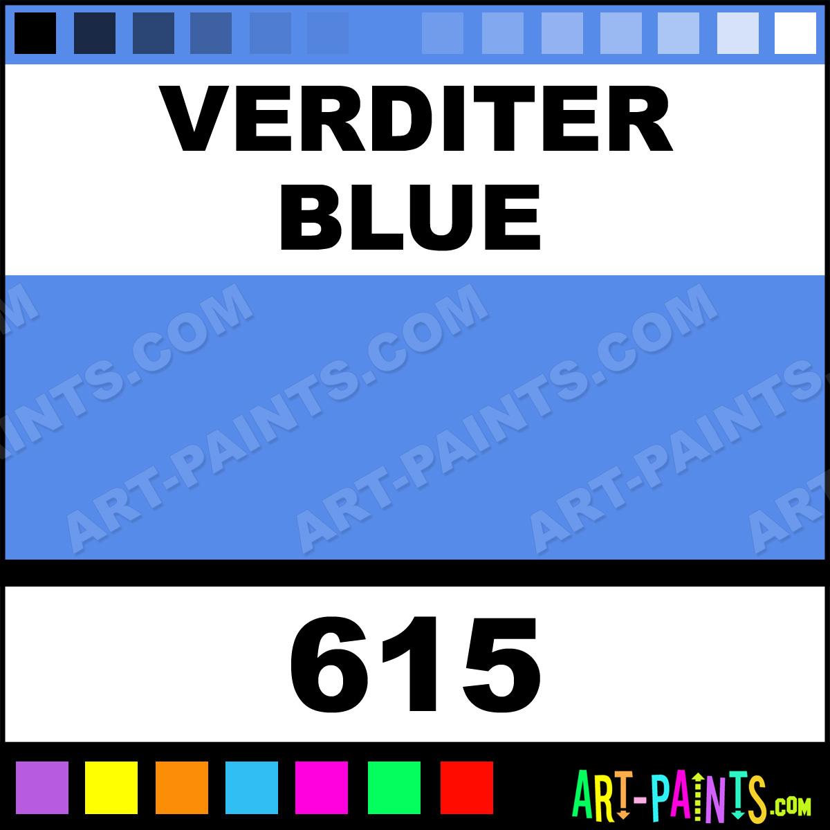 Verditer Blue Premium Watercolor Paints 615 Verditer