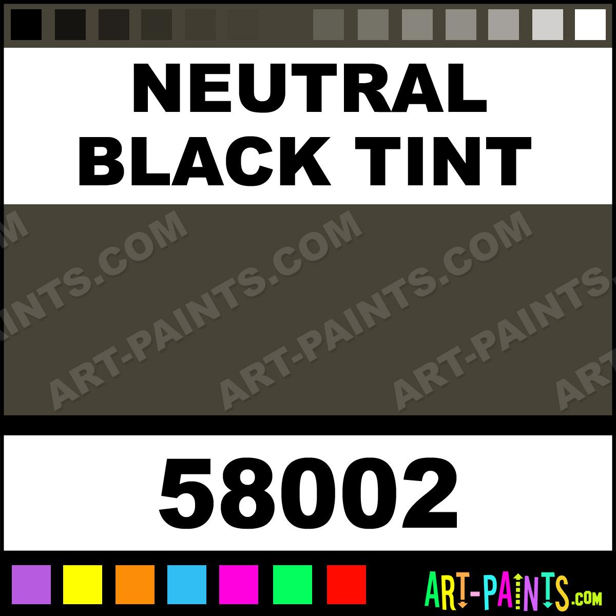 Neutral Black Tint White Nights Tube Set Watercolor Paints