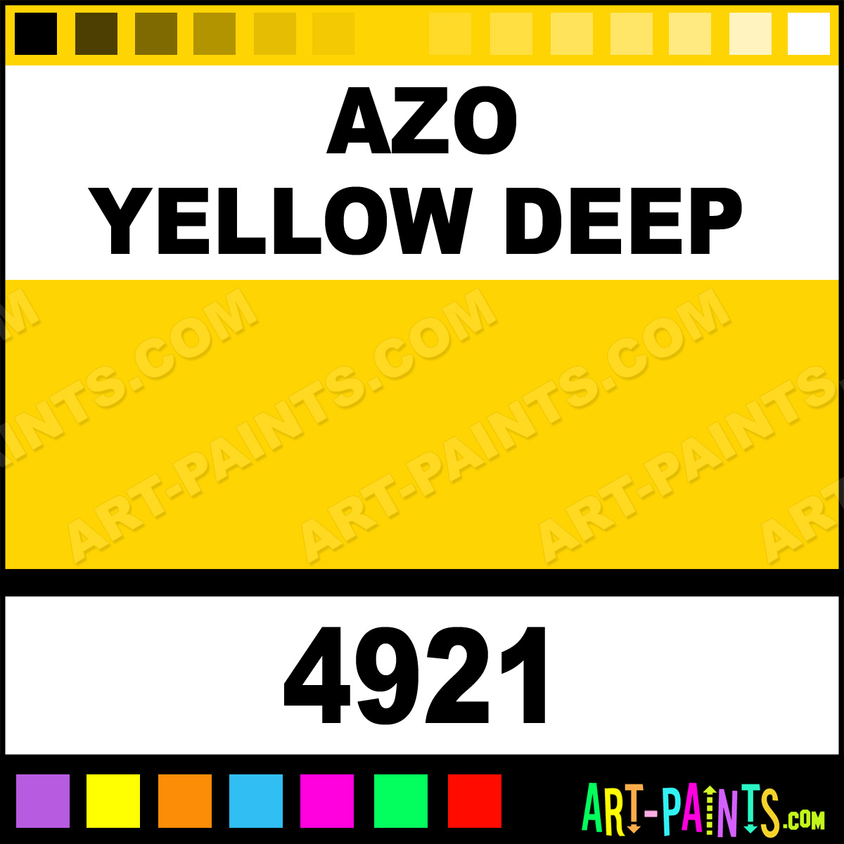 Azo Yellow Deep Artist Watercolor Paints 4921 Azo