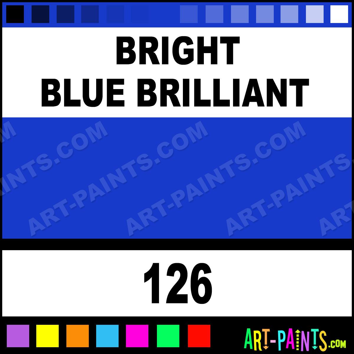 Bright Blue Brilliant St Petersburg Pro Watercolor Paints