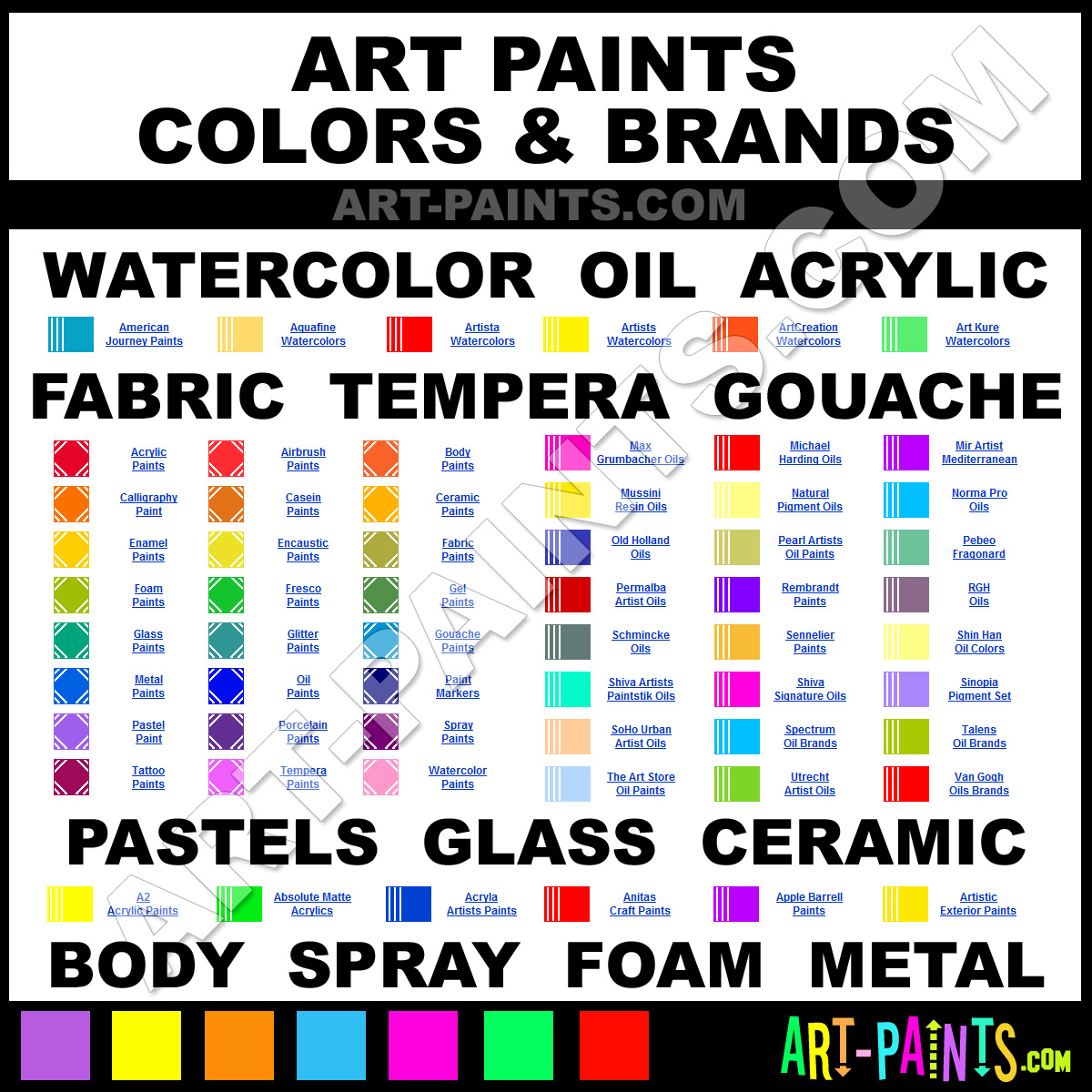 Artist Paint Colors Art Paints